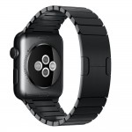 Stalowa Bransoleta Panelowa do Apple Watch 42mm - czarna