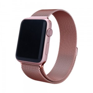 Bransoleta MILANESE Loop do Apple Watch 42mm różowa