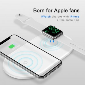 BASEUS 2w1 Ładowarka Indukcyjna do iPhone Apple Watch