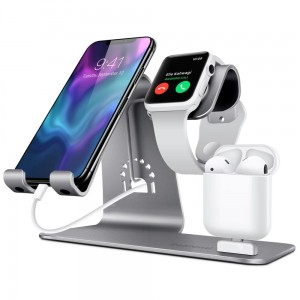 Aluminiowy Stojak Stand do Apple Watch iPhone Airpods
