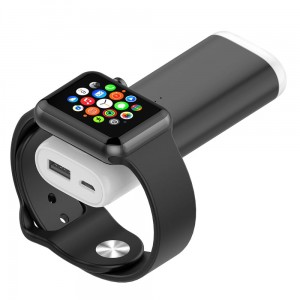 Power Bank 5200mAh Bateria Ładowarka do Apple Watch czarny