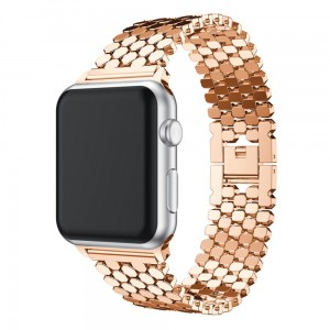Damska Bransoleta XINCUCO do Apple Watch 42mm/44mm rose gold