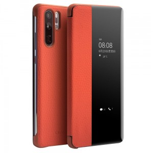 Skórzane Etui Smart Cover QIALINO do Huawei P30 Pro orange