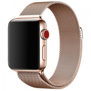 Bransoleta MILANESE Loop do Apple Watch 42mm Rose Gold