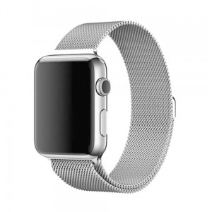 Bransoleta MILANESE Loop do Apple Watch 42mm srebrna
