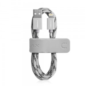 MOMAX Elite Lightning MFi kabel USB  8pin do iPhone iPad iPod - srebrny