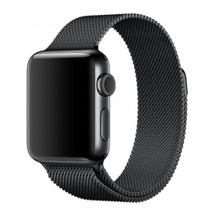 Bransoleta MILANESE Loop do Apple Watch 42mm czarna