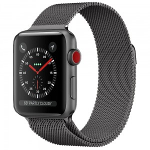 Bransoleta MILANESE Loop do Apple Watch 42mm szara