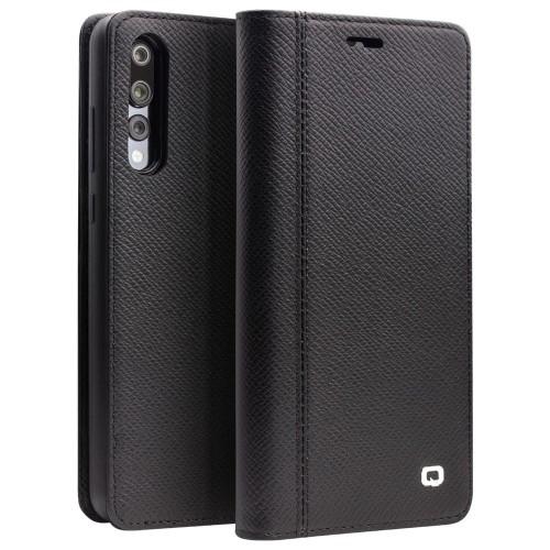 12d5e9fa62c6c QIALINO Magnetyczne Skórzane Etui Portfel do Huawei P20 Pro czarne ...