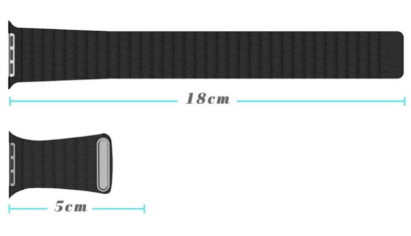 Pasek ze skóry naturalnej z zapięciem magnetycznym do Apple Watch 42mm