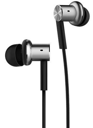 Słuchawki XIAOMI Mi Piston Iron Dynamic z mikrofonem dokanałowe srebrno czarne